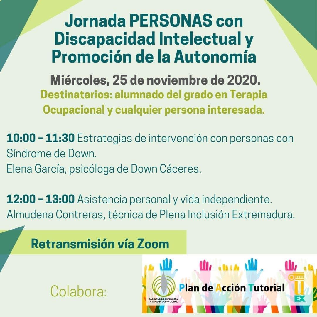 Jornada PERSONAS con Discapacidad Intelectual y Promoción de la Autonomía